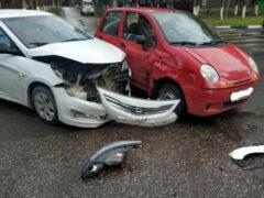 В Коврове столкнулись три машины